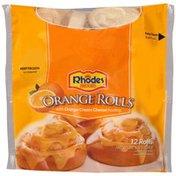 Rhodes Bake-N-Serv with Orange Cream Cheese Frosting Orange Rolls