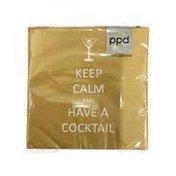 Paperproducts Design Keep Calm Beverage Cocktail Napkin