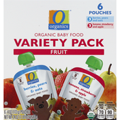 O Organics Baby Food, Organic, Fruit, Variety Pack, 6 Pouches