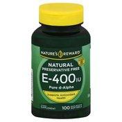 Nature's Reward Vitamin E, 400 IU, Quick Release Softgels