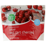 Food Club Unsweetened Pitted Red Tart Cherries