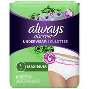 Always Discreet DISCREET Incontinence Underwear, Maximum, Underwear