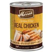 Merrick 96% Grain Free Backcountry Chunky Chicken Dinner