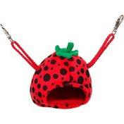 "Multi Pet Small Strawberry House Small Animal Hideaway 4"" L X 4"" W X 4"" H"