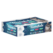 Blue Buffalo Tastefuls Natural Flaked Wet Cat Food Variety Pack, Tuna, Chicken and Fish & Shrimp Entrées in Gravys (12 count - 4 of each)