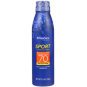 TopCare Sport Sweat/Water Resistant Uva/Uvb Broad Spectrum Spf 70 Sunscreen Continuous Spray