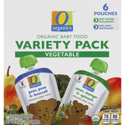 O Organics Baby Food, Organic, Vegetable, Variety Pack