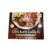 Grandma's Chicken Cutlets With Beef & Mushrooms