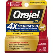 Orajel PM Nighttime Medicated Toothache & Gum Instant Pain Relief Cream