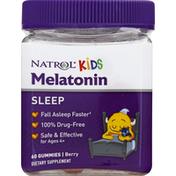 Natrol Melatonin, Sleep, Kids, Gummies, Berry