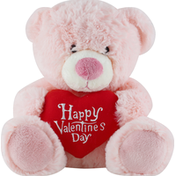 CS International HK Toys Valentine Bear, with Heart, Sitting, 10 Inch