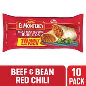 El Monterey Burritos, Beef & Bean Red Chili, Mild, Family Pack