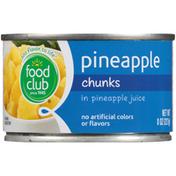 Food Club Pineapple Chunks In Pineapple Juice