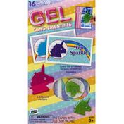 Mello Smello Cards, Gel Cling Valentines, Unicorn