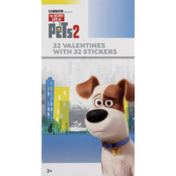 Paper Magic Group Valentines with Stickers, Illumination The Secret Life of Pets 2