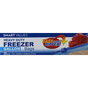 Smart Values Freezer Bags, Heavy Duty, Zipper, 3.78 Liters