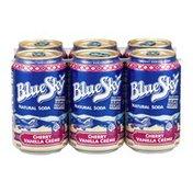 Blue Sky Natural Soda Cherry Vanilla Creme