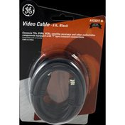 GE Video Cable Black 6 Ft RG59 Coax F Plugs Each End