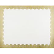 UCreate Poster Board, Premium, Gold Glitter Scalloped, 22 Inch x 28 Inch