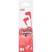 Jvc Stereo Headphones, Cranberry Red