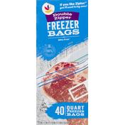 SB Freezer Bags, Double Zipper, Quart