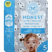 The Honest Company Diapers, Gentle + Absorbent, Pandas, 5 (27+ Pounds)