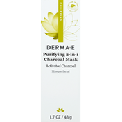 DERMA E Charcoal Mask, Purifying, 2-in-1