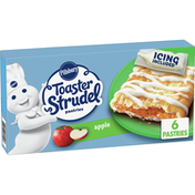 Pillsbury Toaster Strudel Apple Toaster Pastries, Value Size, 6 Count