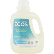 ECOS Laundry Detergent, Plant Powered, Free & Clear, Hypoallergenic