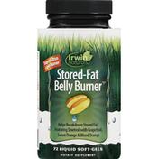 Irwin Naturals Stored-Fat Belly Burner, Liquid Soft-Gels