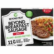 Beyond Meat Beyond Breakfast Sausage, Plant-Based Breakfast Patties, Spicy