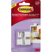 3M Command Spring Clips, Mini, Party