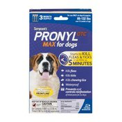 Sergeant's Pronyl OTC Max For Dogs 3 Month Supply 89 - 132 lbs
