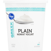 Kroger Yogurt, Nonfat, Plain