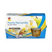 SB Peachy Pear Jumble in Light Syrup - 4 CT