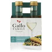 Gallo Family Vineyards Moscato White Wine 4 Single Serve Bottles