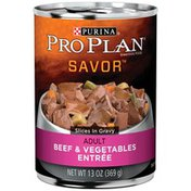 Purina Pro Plan Savor Beef & Vegetables Adult Canned Dog Food