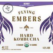 Flying Embers Hard Kombucha, Berry