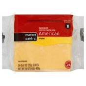 Market Pantry Cheese Food, American, Singles