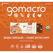 GoMacro Macrobars, Double Chocolate + Peanut Butter Chips