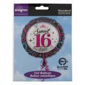 Anagram Standard Foil Balloon Sweet 16