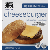 Food Lion Cheeseburger, Fully Cooked, Box