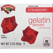 Hannaford Gelatin Dessert Strawberry