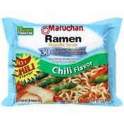 Maruchan Chili Flavor 30% Less Sodium Ramen Noodle Soup