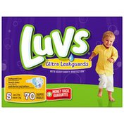 Luvs with Ultra Leakguards Family Pack Size 5 Diapers