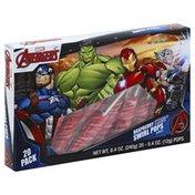 Avengers Candy, Swirl Pops, Raspberry, 20 Pack