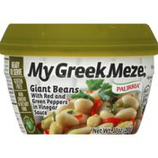My Greek Meze Giant Beans, with Red and Green Peppers in Vinegar Sauce
