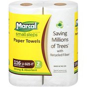 Marcal® 2-Ply 2 Rolls U-Size-It® 116 ct Paper Towels