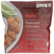 Hy-Vee Popcorn Chicken Fully Cooked Chicken Breast Patty Fritters With Rib Meat