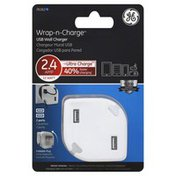 GE Wall Charger, USB, Wrap-n-Charge